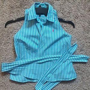 Sassy Ralph Lauren tie waist top